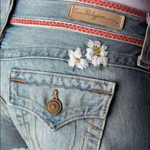 True Religion Floral Jean Shorts